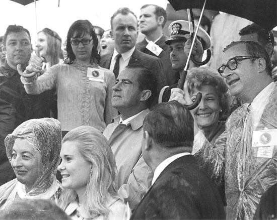 Nixon and Paine at Apollo 12 Launch