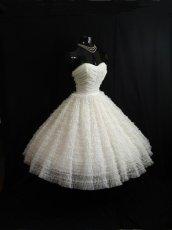 Vintage strapless white cupcake dress from Vintage Vortex