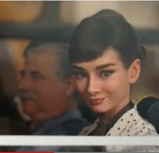Audrey Hepburn's new Galaxy chocolate advert