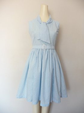 Blue Butterfly Swing Dress by Franny Lou Frocks