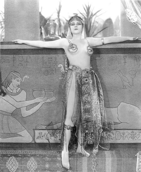 Theda Bara as Cleopatra (in rather risqué costumes)