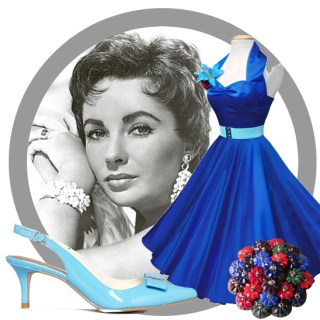 Vintage look book: technicolour Liz Taylor