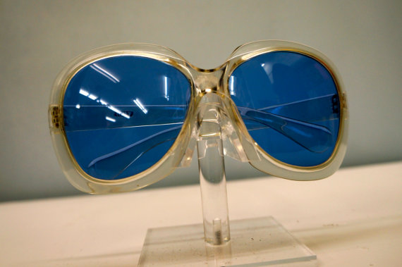 1960s Clear Blue Lens Sunglasses