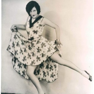 Joan Crawford flashing her legs, 1930s