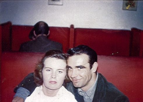 A personal snapshot of Sean Connery with bushy eyebrows, 1950s