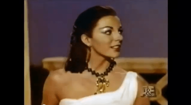Joan Collins screentest for Liz Taylors part in Cleoapatra
