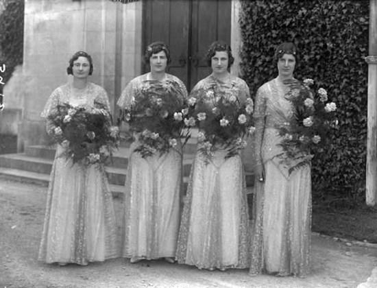 1930s wedding photo