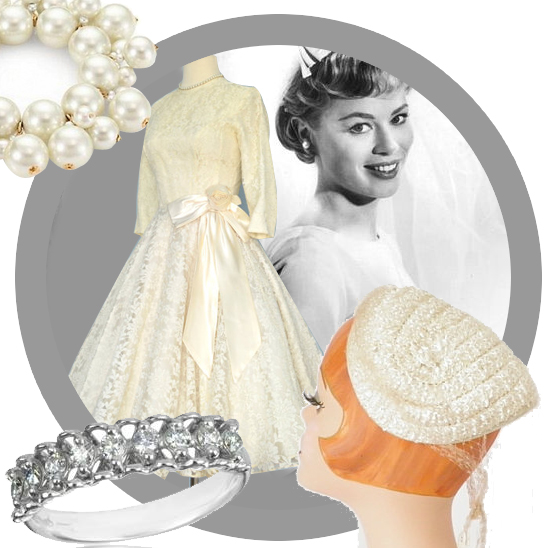 Vintage look book: 1950s bride