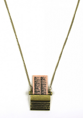 Vintage typewriter necklace