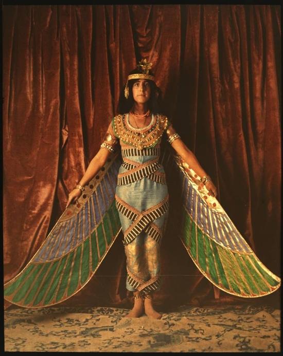 Vintage dancer in Egyptian costume, 1915