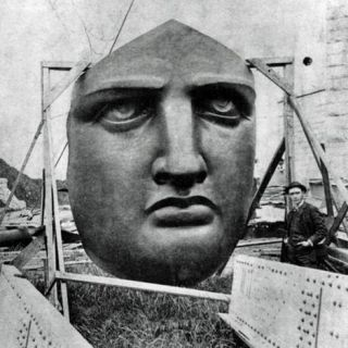 The Statue of Liberty: dismembered