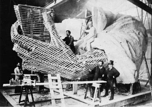 Constructing the Statue of Liberty