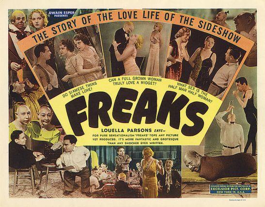 Vintage movie poster: Freaks