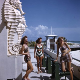 Giant seahorses and 1940s bikinis