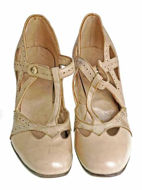 Vintage 1920s flapper shoes