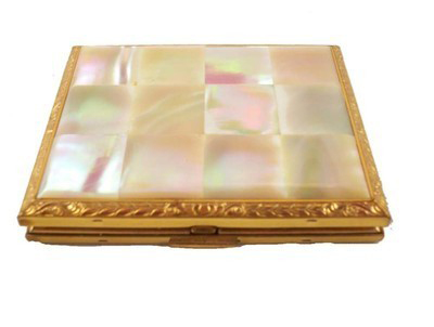 Vintage Mother Of Pearl American Beauty Compact 1940S