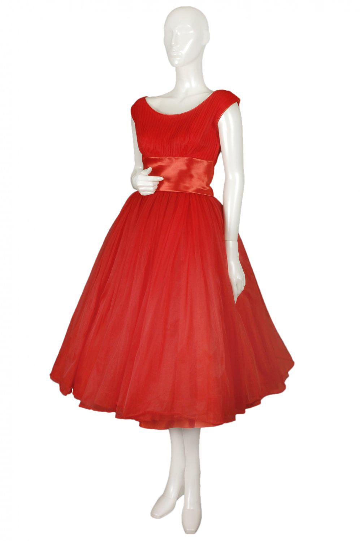 1950s emma domb bib front party dress