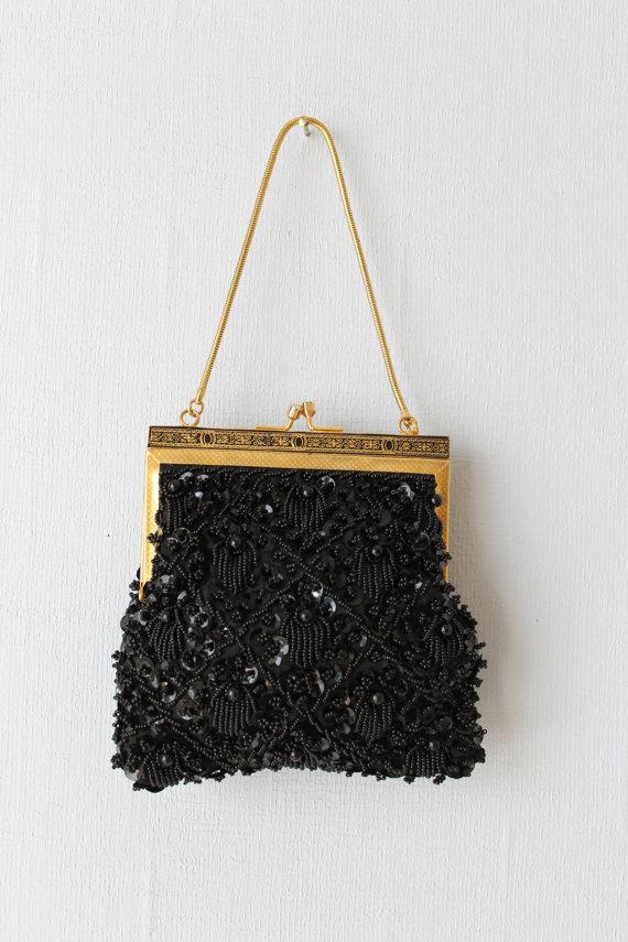 1960s Vintage Beaded Handbag