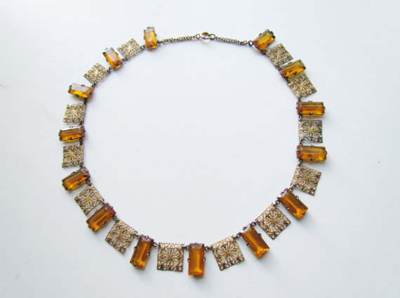 1920s art deco necklace