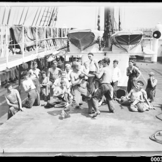 1930s Sailors Boxing on Boxing Day