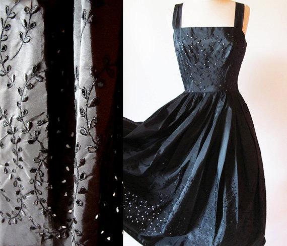 1950's Taffeta Swing Dress