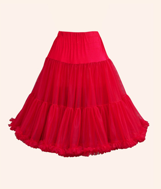 Red 1950s style petticoat