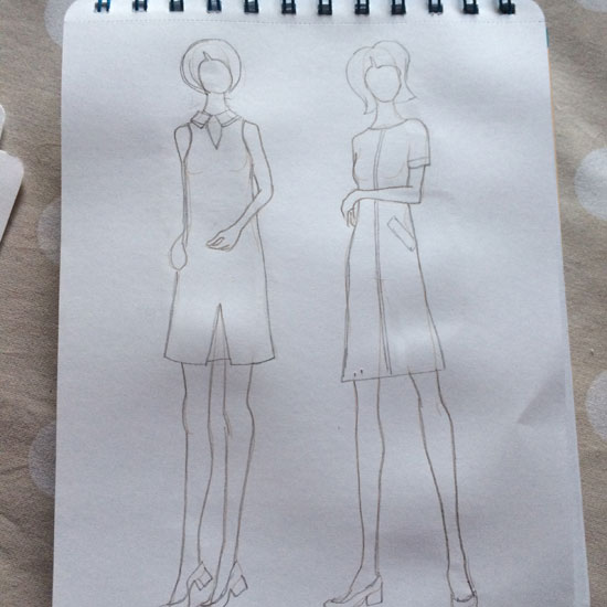 Vintage fashion sketch