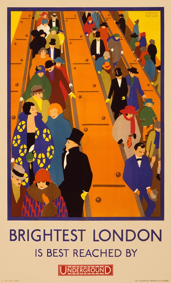 Vintage London Underground Tube Poster