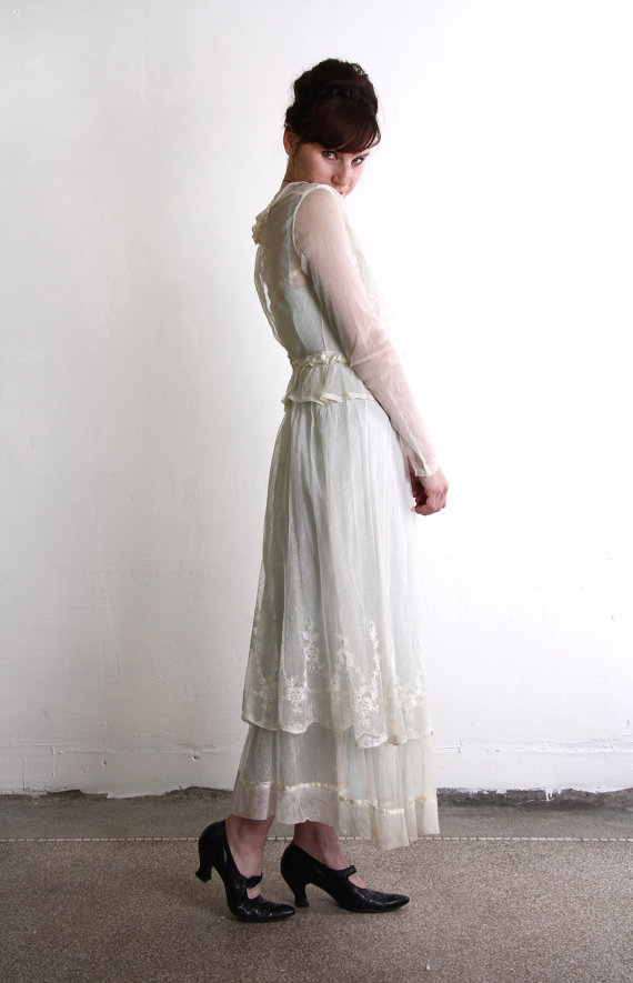 Antique Edwardian Wedding Dress