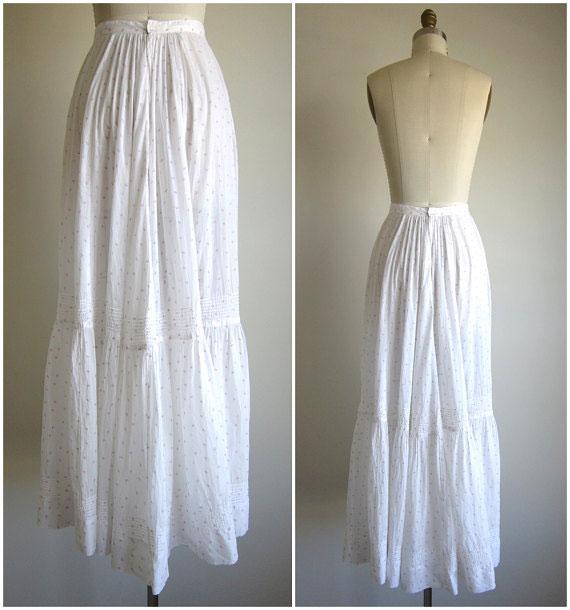 Vintage 1900s Edwardian Petticoat