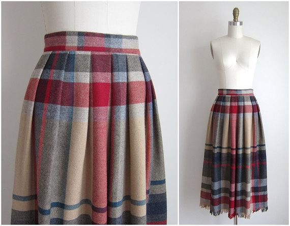 Vintage 1970s Wool Skirt