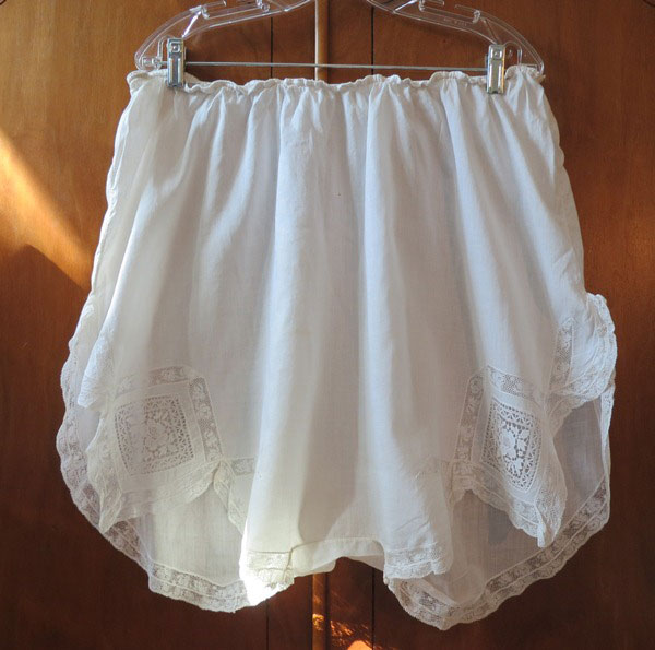 1920s White Cotton Lacey Panties