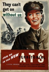 WW2 1940s Wartime poster: ATS