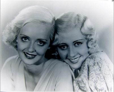 Bette Davis and Joan Blondell