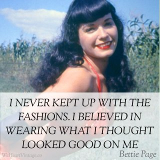 Quotes: Bettie Page on Fashion
