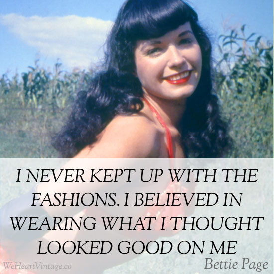 Quotes: Bettie Page