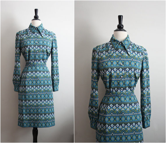 1960 Marco Polo Mod Suit Dress 2 Piece