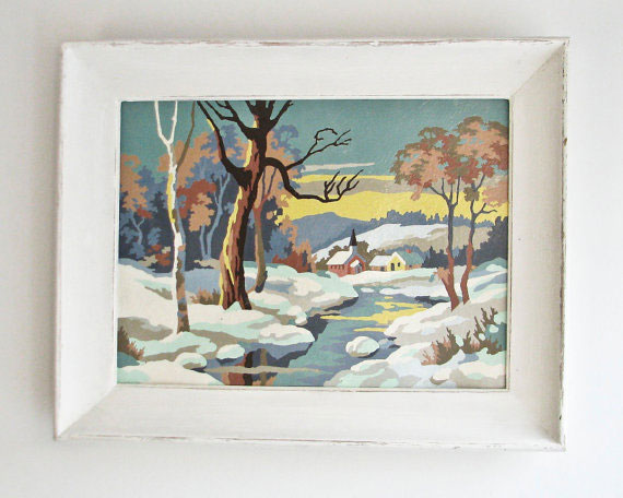 1950s Paint By Number Painting