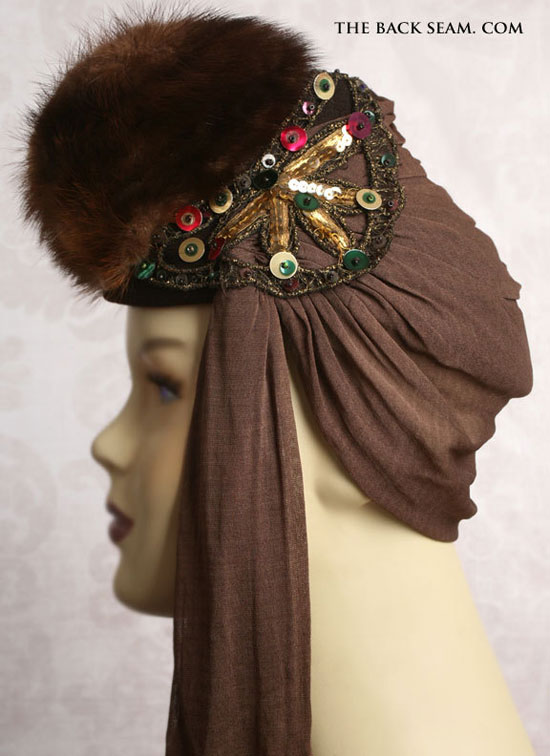 1930s Mink Art Deco Era Womens Tilt Top Hat