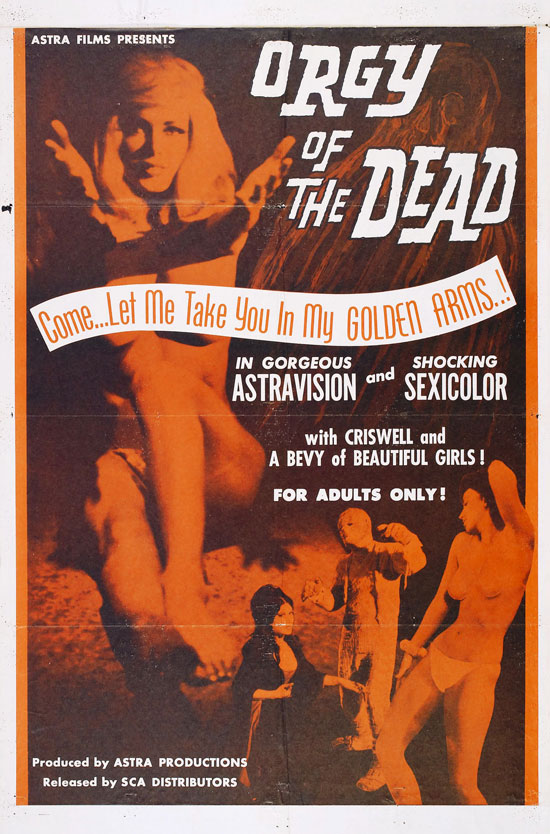 Orgy of the Dead Horror Movie Poster