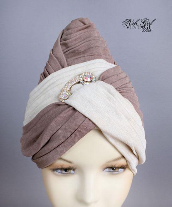 1950's Vintage Turban Style Designer Hat
