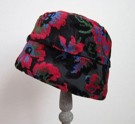 Vintage 1960s Tapestry Hat