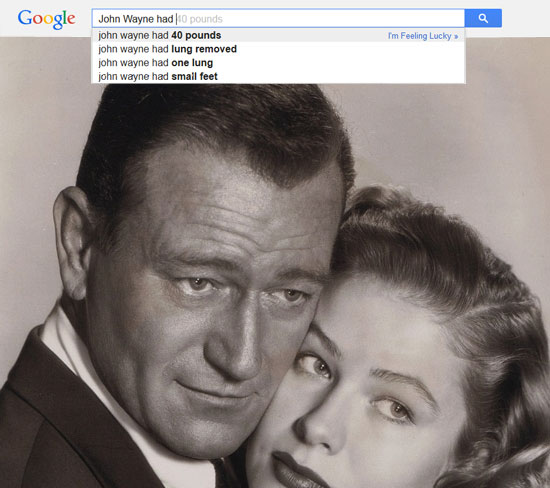 Google results for John Wayne