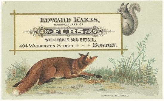 Vintage fur advert