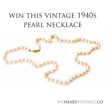 Win a Vintage 1940s Pearl Necklace