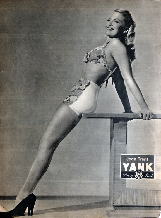 WW2 Pin-Up in Yank Magazine: Jean Trent