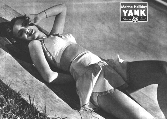 WW2 Pin-Up in Yank Magazine: Martha Holliday