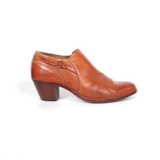 70s Mens Southwestern Ankle Boots