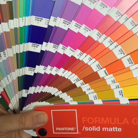 One of my Pantone guides. Give me the old Dutch version any day!