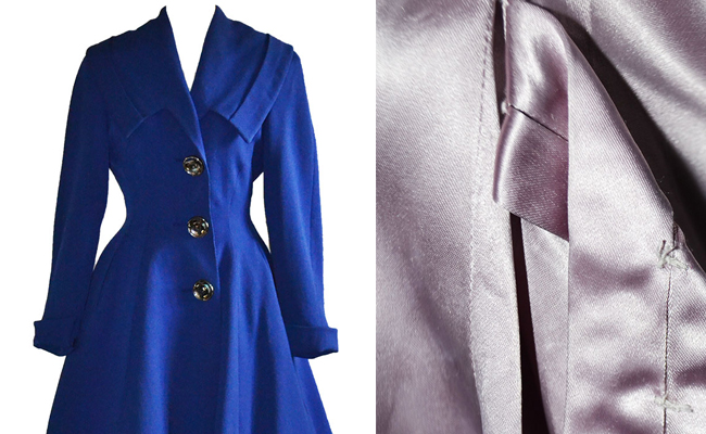 1950s Vintage Coat Royal Blue Morny of London